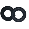 Tyre & Tube [4.10/3.50-6] Pneumatic Front/Rear Black Pack of 4